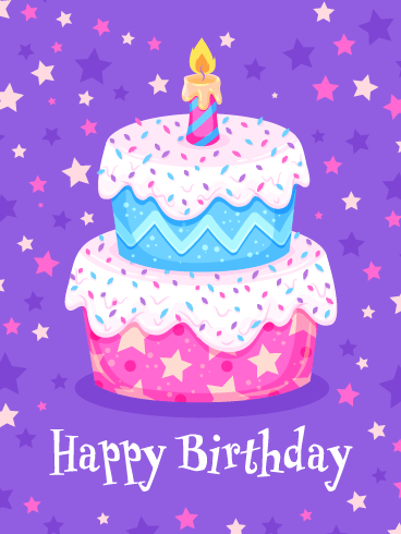 Sensational Stars – Happy Birthday Card