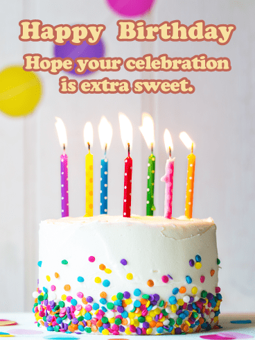 Extra Sweet Celebration - Happy Birthday Card