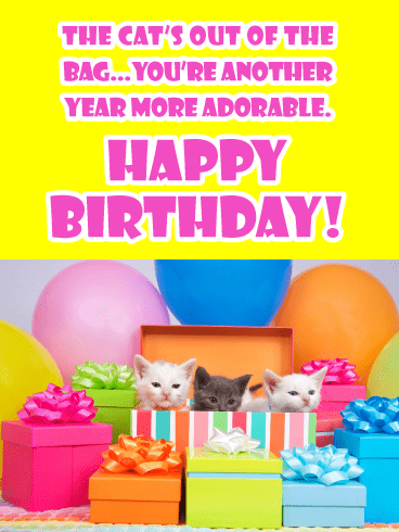 Another Year More Adorable - Happy Birthday Card