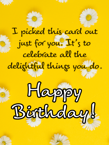 A Delightful Day - Happy Birthday Card