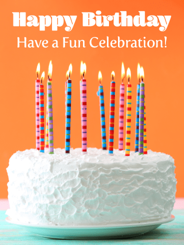 Celebration Candles – Happy Birthday Card