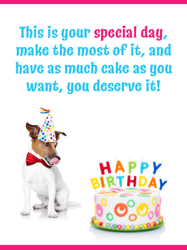 Yummy Cake – Happy Birthday Day Card