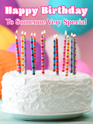 Perfectly Frosted Birthday Cake – Happy Birthday Card