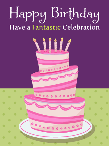 Large Celebration Cake – Happy Birthday Card