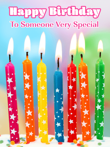 Exciting Cake Candles – Happy Birthday Card