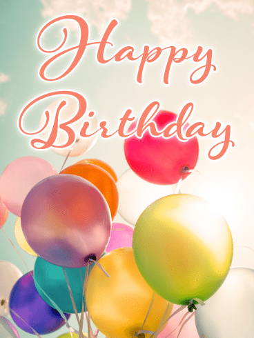Beautiful Balloons – Happy Birthday Card