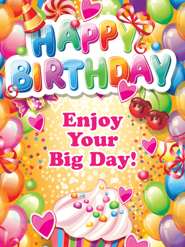 Bursting with Colors! Happy Birthday Card