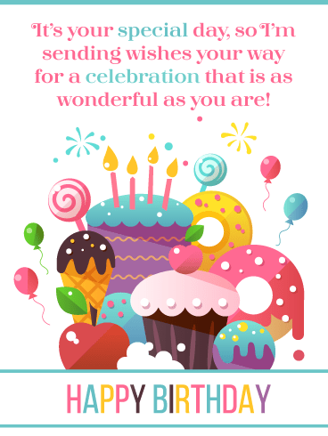 Fun Desserts – Happy Birthday Card