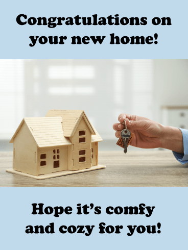 Tiny Model Home- Congratulations on New House Card