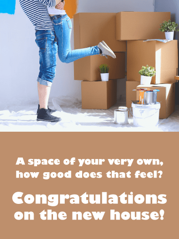 Your Own Space- Congratulations on New House Card