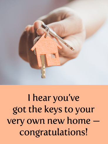 House Keys- Congratulations on New Home Card