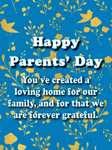 Forever Grateful - Happy Parents' Day Card