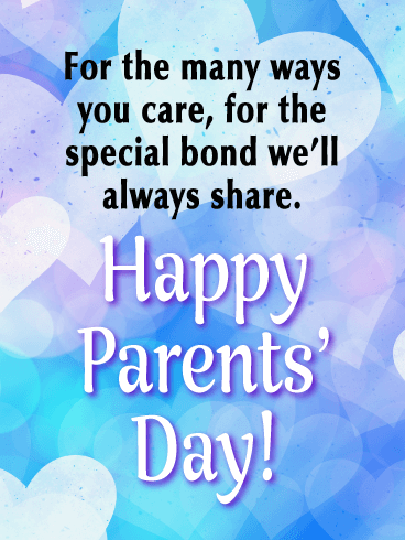A Celebration of All the Love - Happy Parents' Day Card