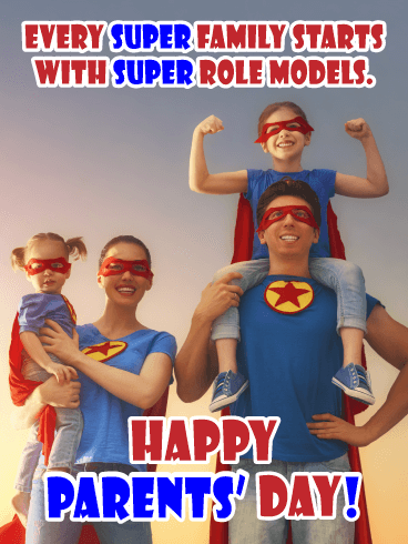 Super Family - Happy Parents' Day Card