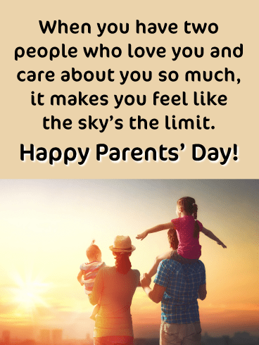 Makes You Feel Like the Sky's the Limit- Happy Parents' Day Card
