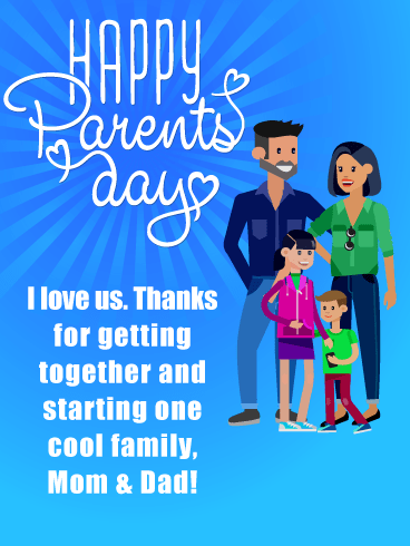 Cool Family- Happy Parents' Day Card