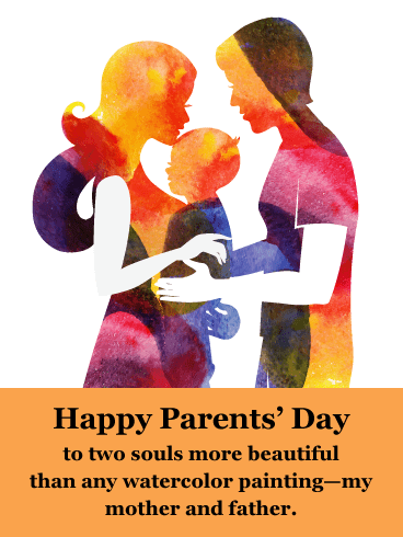 Watercolor Love- Happy Parents' Day