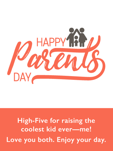 High Five Family- Happy Parents' Day Card