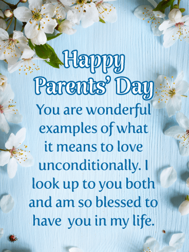 Blessed to Have You in My Life- Happy Parents' Day card
