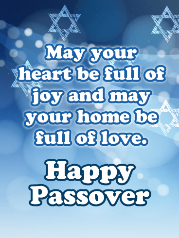 Blue Star of David Happy Passover Card