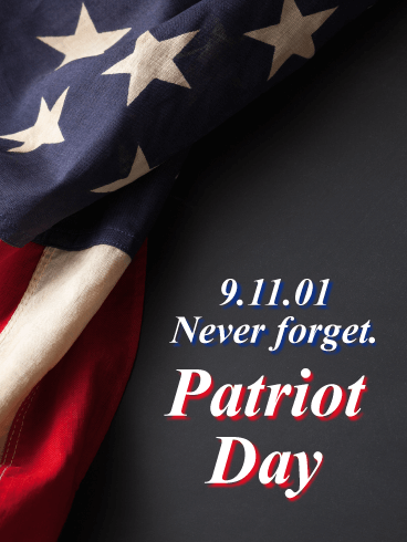 Never Forget - Patriot Day Card