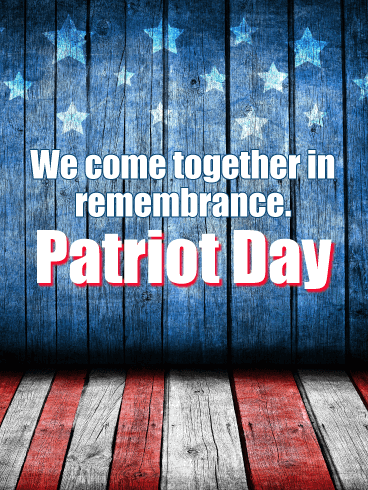 We Come Together - Patriot Day Card