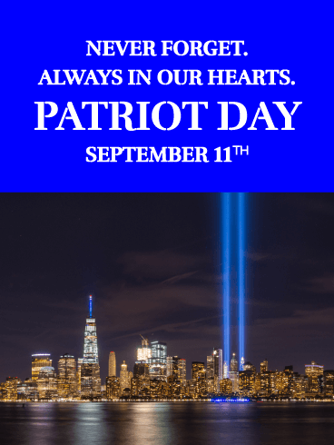 Never Forgotten - Patriot Day Card