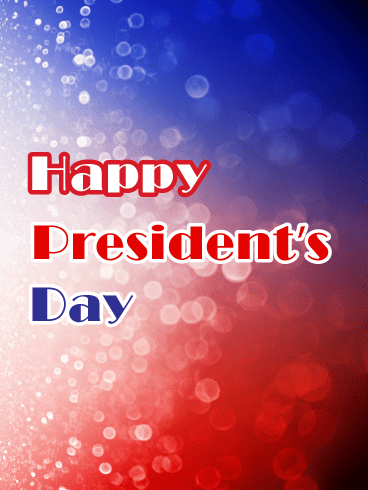 Patriotic Sparkles - Happy Presidents Day Card