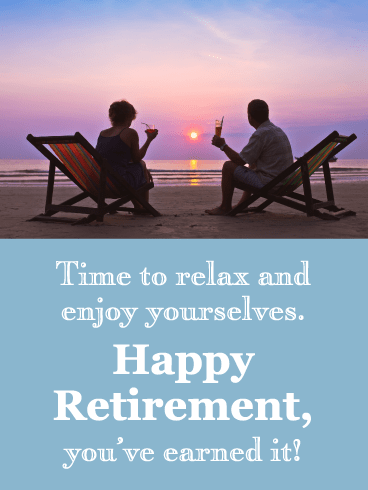 Relax By the Ocean - Happy Retirement Card