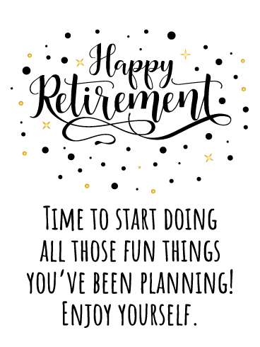 Fancy Lettering- Happy Retirement Card