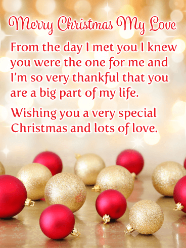 Lot's of Love - Romantic Merry Christmas Card