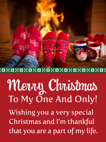 You're My One and Only! Romantic Merry Christmas Card