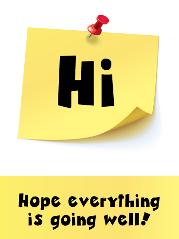 Post-It Up- Just Saying Hi Card