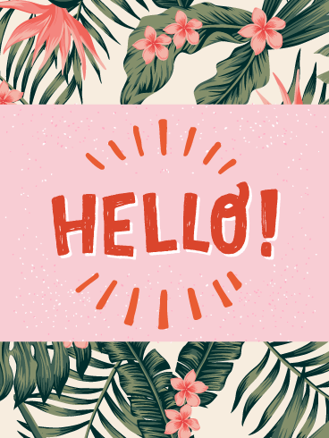 Keep It Simple 'n Sweet- Saying Hi Card