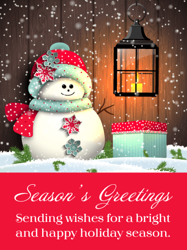 Holiday Snowman - Season's Greetings Card