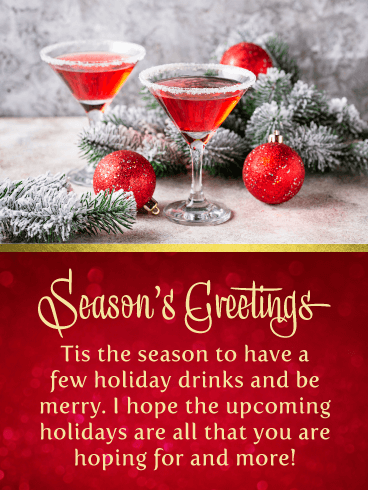Drink & Be Merry - Season's Greeting Card