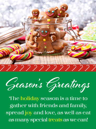Lots of Holiday Treats! - Season's Greetings Card