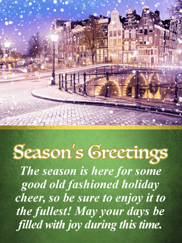 A Winter Wonderland - Season's Greetings Card