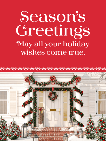 Beautiful Holiday Décor - Season's Greetings Card