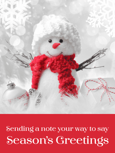 Adorable Snowman - Season's Greetings Card