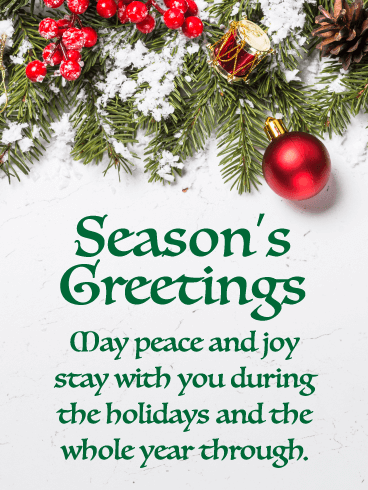 Peace and Joy - Season's Greeting Card