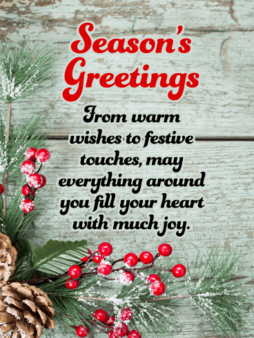 Warm Wishes - Season's Greeting Card