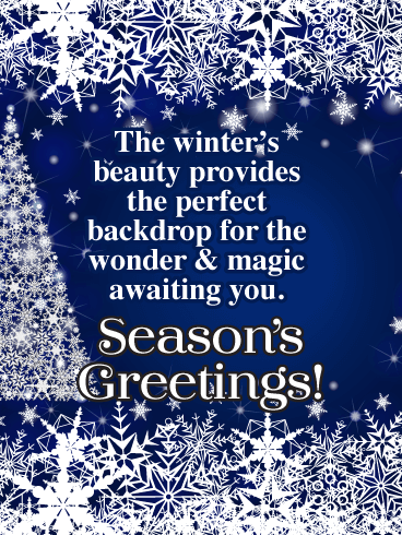 The Winter's Beauty - Season's Greeting Card