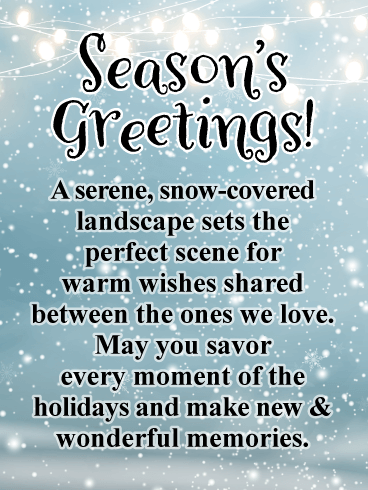 New & Wonderful memories - Season's Greeting Card