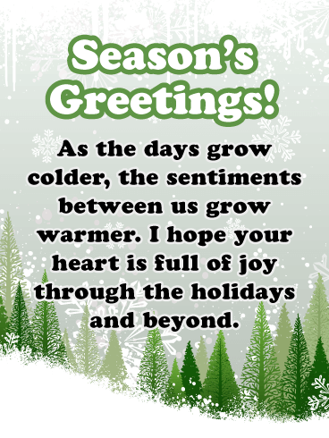 A Heart Full of Joy - Season's Greeting Card