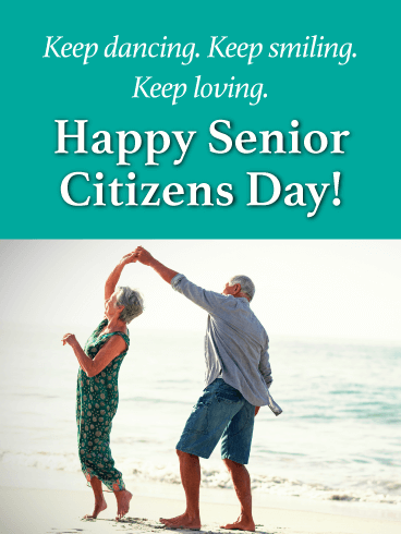 Keep Dancing! - Happy Senior Citizens Day Card