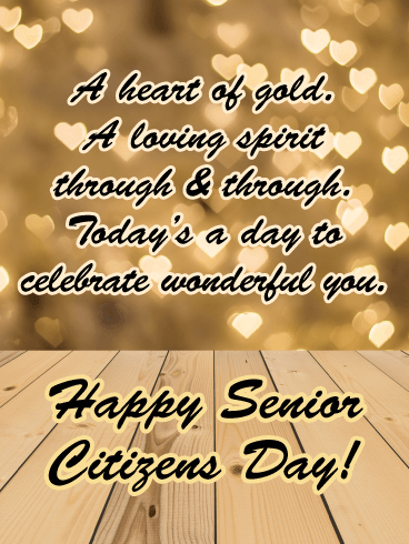 A Loving Spirit - Happy Senior Citizens Day Card