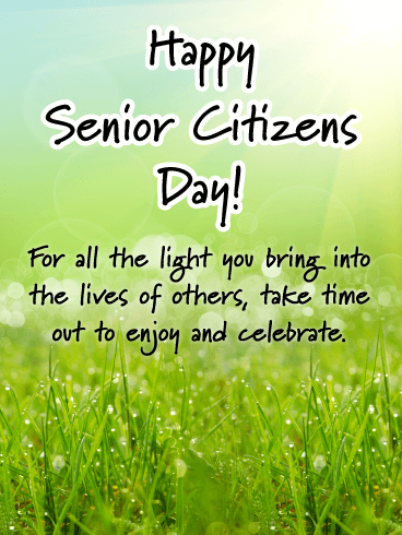 Smile and Caring Nature - Happy Senior Citizens Day Card
