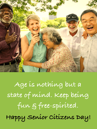 Fun & Free-Spirited - Happy Senior Citizens Day Card