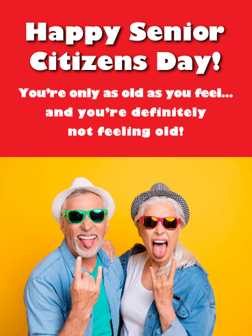 Be Wild! _Happy Senior Citizens Day Card